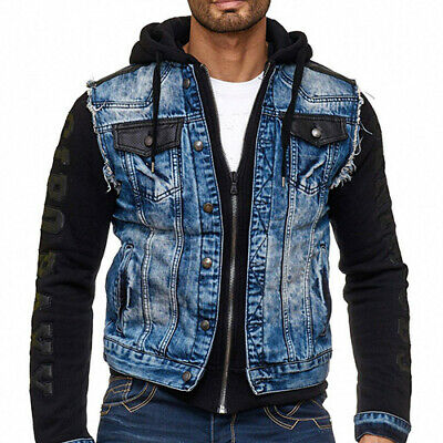 Cipo & Baxx IOWA Herren Jeans Jacke Weste Denim Hoodie CJ154 Alle Gr. Neu