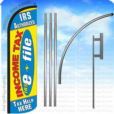 Irs Authorized Income Tax E-file Tax Help - Windless Swooper Flag 15 Kit Yz