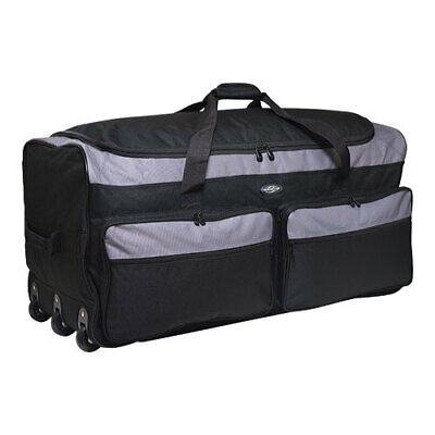"Travelers Club Unisex  36"" Collapsible Multi-Pocket Duffel Gray Size OSFA"