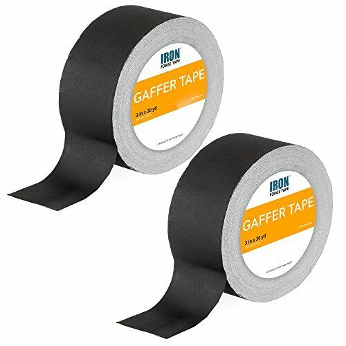 Black Gaffers Tape 2 Pack - 3in x 30 Yards Gaffer Tape Roll