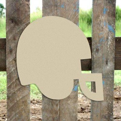Wooden Football Helmet Shape, Unfinished Shape, Wood Cutout, Wooden Paintable (Football Helmet Cutouts)