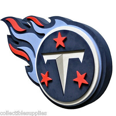 Tennessee Titans NFL Football Official 3D Foam Logo Wall Sign