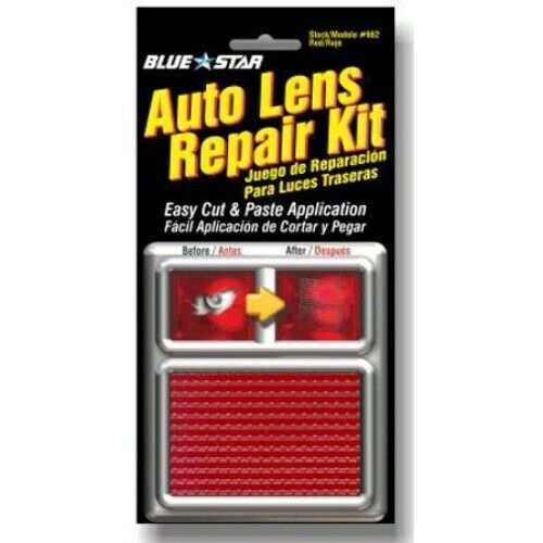 Blue Star 662 Auto Lens Repair Kit Red Textured