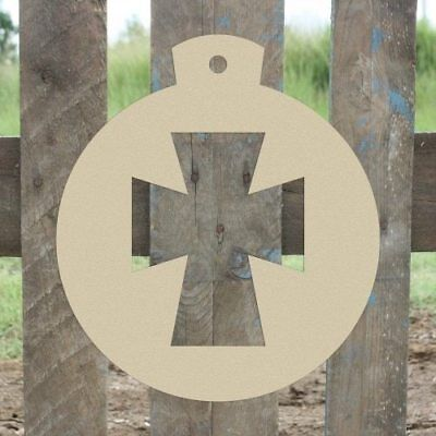 Wood Ornament Cross Shape, Unfinished Shape, Wood Cutout, Wooden Paintable Craft