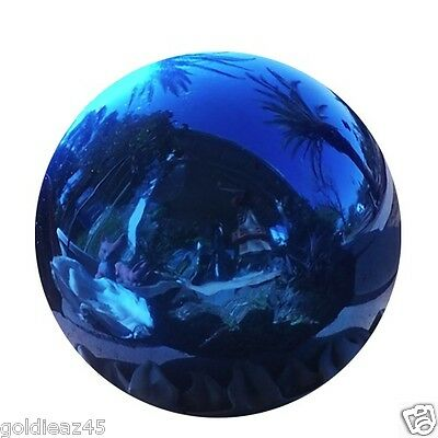 "6"" Stainless Steel Blue Gazing Ball Globe VCS BLU06"