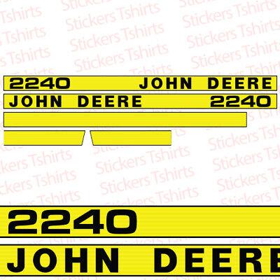John Deere Tractor 2240 Hood Decals Stickers Set
