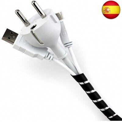 Purovi® Organizador de Cables en Espiral | Longitud 10 m | Tubo...