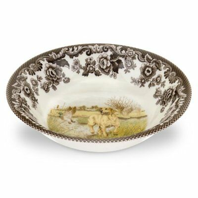 Spode Woodland Hunting Dogs Ascot Cereal Bowl with Yellow Labrador Retriever