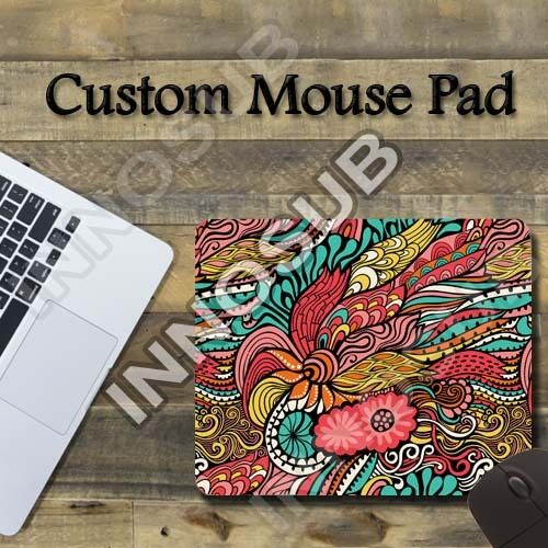 "Abstract Psychedelic Flower Cool Mouse Pad 7.75""x9.25"" Gaming Mousepad"