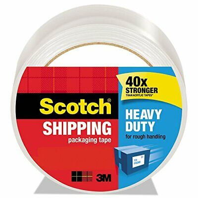 Scotch Heavy Duty Shipping Packaging Tape 1 Refill Roll 1.88 X 54.6 Yards 3...