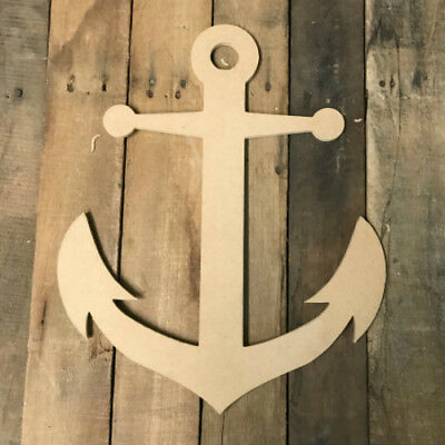 Wooden Anchor Cutout, Wood Anchor Shape, Wall Art Shape, Paintable Wall Craft](Unfinished Wooden Anchor)