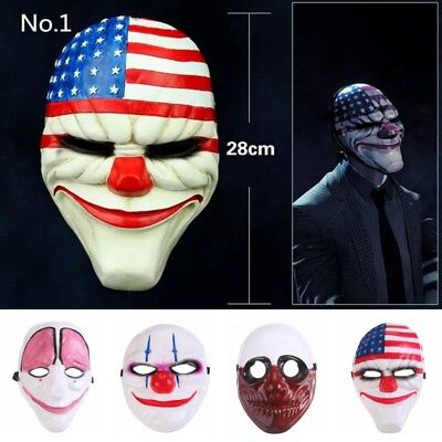 2017 Party Mask Payday PVC Scary Clown Mask Payday Halloween Mask For Party ](Masks For Halloween 2017)