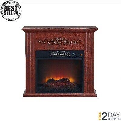 Adjustable Electric Fireplace Heater Elegant Indoor Model for Living Room NEW ()