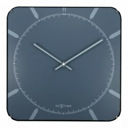 Boyle NeXtime Stylish Wall Indoor Clock Michael Square Dome - Blue
