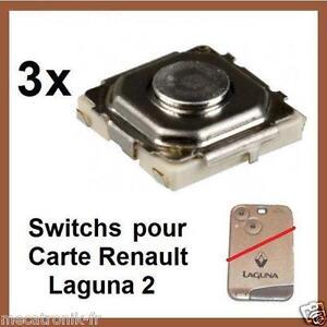 3x switchs bouton de cl telecommande pour carte renault laguna 2 espace velsati ebay. Black Bedroom Furniture Sets. Home Design Ideas