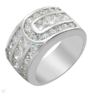 STERLING SILVER NEW LADIES SIZE 6.5 CZ RING **ORILLIA**