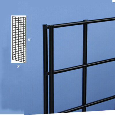 Two Gridwall Panel 2 X 52 Inches  Grid Wall Display Black Panel Steel