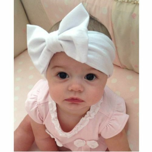 7pc Kids Girl Baby Toddler Infant Flower Bow Ribbon Headband Hair Band Headwear