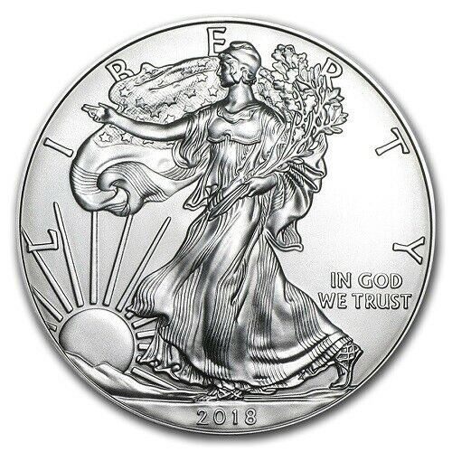 2018 BU 1 Troy oz. Fine Silver American Eagle  Bullion Coin