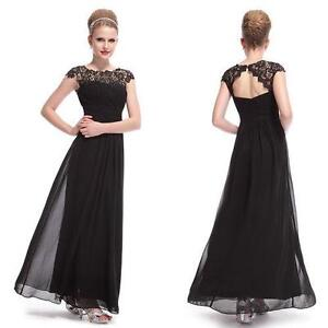 Black Full Length Evening Dresses