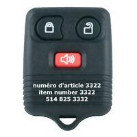 3 Button Remote for Ford / Lincoln / Mercury / Mazda