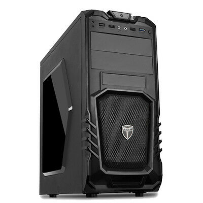 AvP STORM 27 GAMING PC COMPUTER TOWER CASE - FRONT USB 3.0 & HD AUDIO - P27