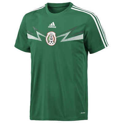 adidas climalite YOUTH mexico home replica top t-shirt soccer world cup medium