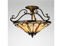 New Tiffany Style Stained Glass Ceiling Light