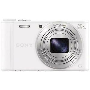 Sony-Cyber-Shot-DSC-WX350-18-2-MP-Digitalkamera-weiss-NEU-OVP