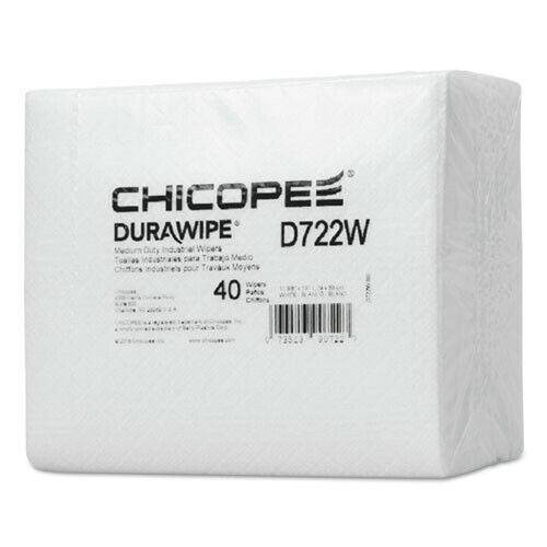 "Chicopee D722W Durawipe 960/Carton 14.6""x13.7"" Medium-Duty Wipers White New"