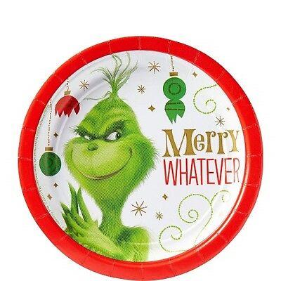 DR SEUSS THE GRINCH CHRISTMAS DESSERT PLATES