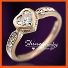 Love & Hearts Simulated Sterling Silver Fashion Rings
