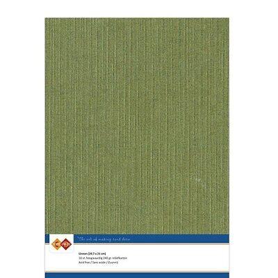 (EUR 4,81/m²) Leinenkarton 10xA4-Bogen moosgrün 41