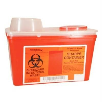 Sharps 4 Quart Disposal Container Monoject Small Chimney Top Covidien Kendall