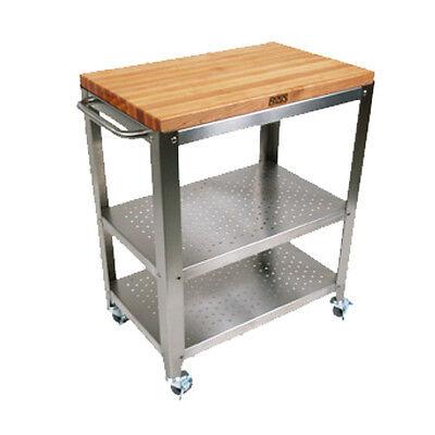 Cucina Stainless Steel Kitchen Cart (John Boos CU-CULART30 Cucina Culinarte' Utility Cart 20