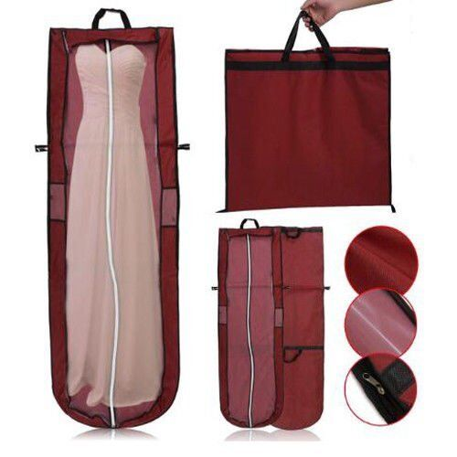 Wedding Evening Dress Bridal Gown Garment Dustproof Cover Storage Bag w/ Handle