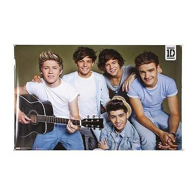One Direction Guitar Poster 1D Group Harry, Niall, Liam, Zayn, Louis - NEW