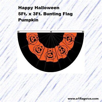 5x3ft Halloween Bunting (Pumpkin) Flag    - Halloween Bunting