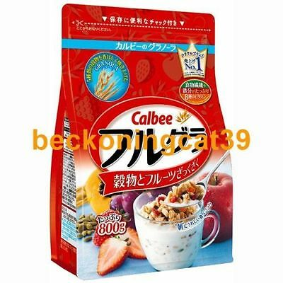 FREE SHIP Calbee Frugra Fruits Nuts Grain Granola Cereal 800g Popular Gift JAPAN