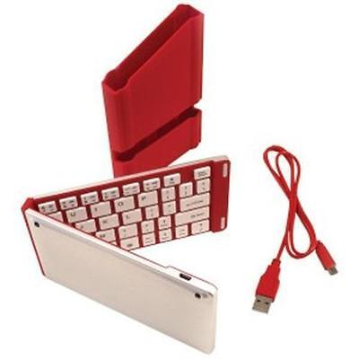 Iwerkz Red Folding Wireless Bluetooth Keyboard For Smartp...