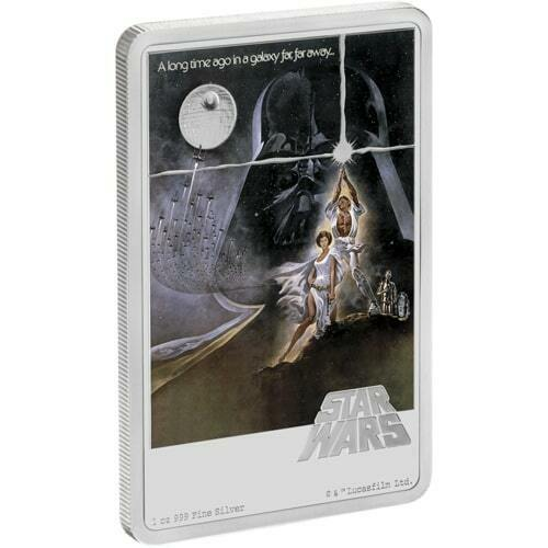 STAR WARS - A NEW HOPE - POSTER - 2020 1 oz Pure Silver Coin - NZ MINT - NIUE