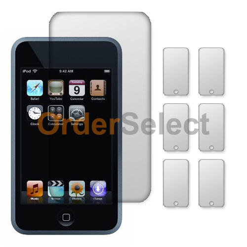 6X NEW Ultra Clear HD LCD Screen Protector for Apple iPod Touch 2 3 2nd 3rd Gen