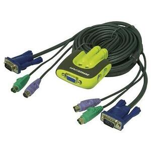 IOGEAR 2-Port MiniView Micro PS/2 KVM Switch avec 2 Cables GCS62