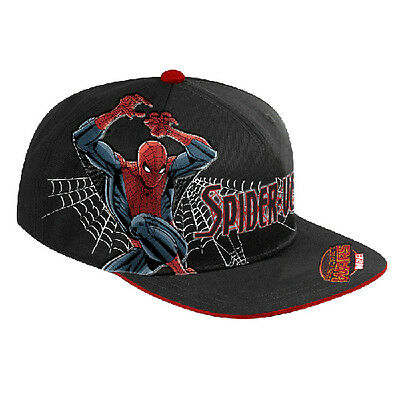 SPIDERMAN Spider Man Flat Peak Cartouche Hat Cap Christmas Birthday Fathers Gift