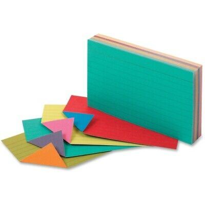 Oxford Extreme Index Cards 3 X 5 Vivid Assorted 100pack