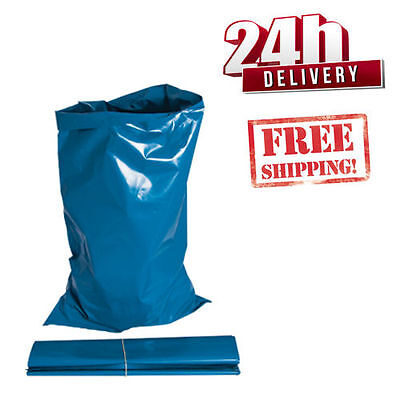 500 EXTRA STRONG HEAVY DUTY BLUE RUBBLE BAGS/SACKS BUILDERS NEXT DAY EXPRESS!