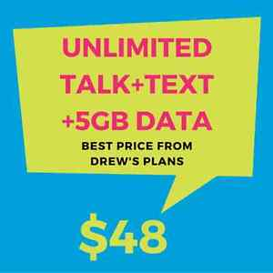 $48 Unlimited Talk, Text, and 5GB of LTE Data - Drew's Plans