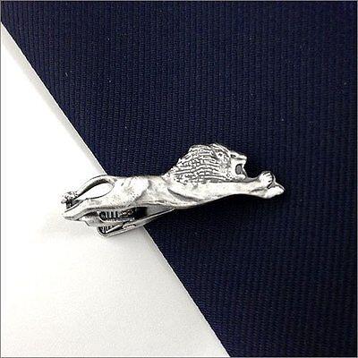 ISHOKUYA Unique Tie Clasps & Tacks Lion Shape Tie Clip/Pin/Bar New
