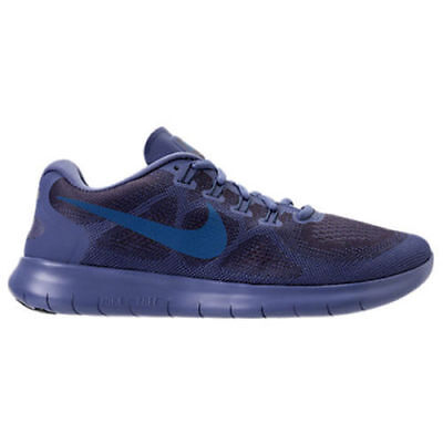MEN'S NIKE FREE RN 2017 SHOES blue moon industrial blue 880839 400 (Moon Shoes Adults)