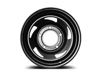"Land Rover Defender Steel Wheels 16"" set of 4 Defend 68 Satin Black"